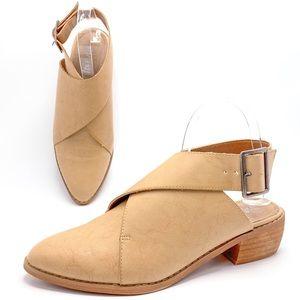 Mi.iM Fran 8.5 Tan Buckle Wrap Mules Booties